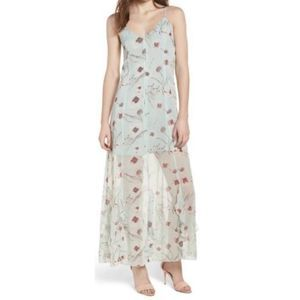 Leith Chiffon Maxi sleeveless floral dress 7568